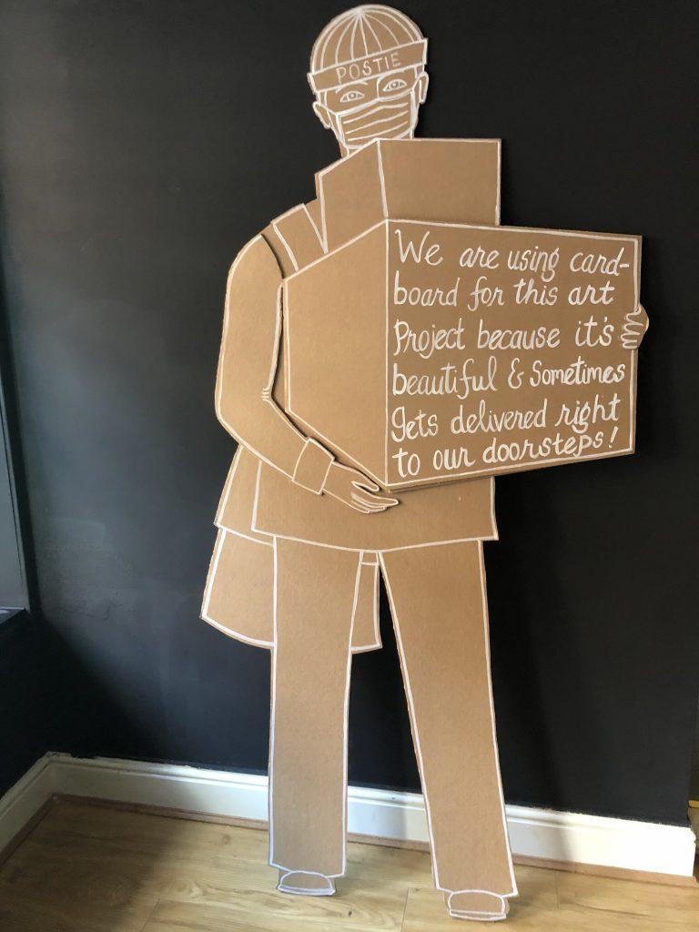 Our cardboard postie